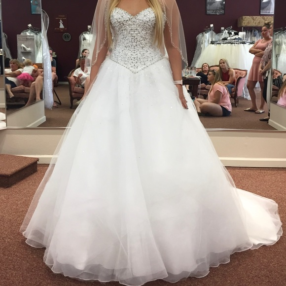 Morilee Wedding Dresses.Morilee Wedding Dress With Crystal Beading